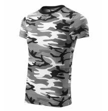 Camouflage Pólók unisex, terepszín szürke