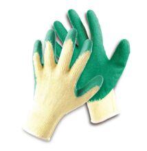 FF HS-4-002 mártott latex kesztyű, zöld