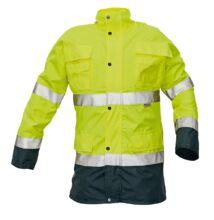 MALABAR meleg kabát HV, sárga