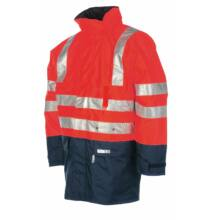 WINSELER kabát fényvisszaverő csíkokkal, piros