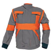 MAX kabát 260 g/m2, szürke/narancs