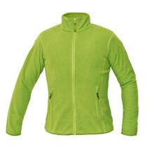 GOMTI női polár kabát, zöldcitrom