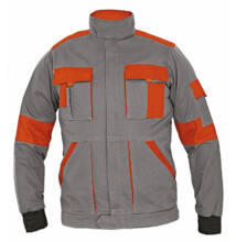 MAX LADY női kabát, szürke/narancs