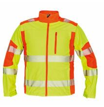 LATTON softshell kabát HV sárga/narancs