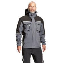 ALLYN soft. kabát+csuklya, szürke/fekete