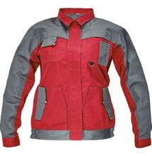 MAX EVO LADY kabát, piros/szürke