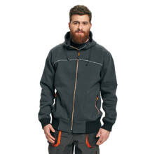 EMERTON NEW kapucnis pulóver, fekete