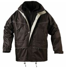 ISA 3/1 kabát, fekete