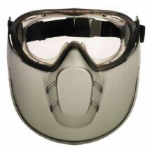 STORMLUX gumipántos szemüveg + arcvédő