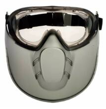 STORMLUX gumipántos acetát szemüveg + arcvédő