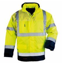 AIRPORT FLUO 4/1 kabát, sárga/kék