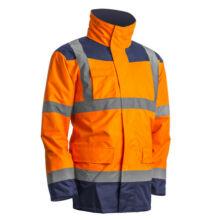 Kanata Hi-Viz 4/1 PE kabát, narancs/kék