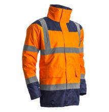 Keta jólláthatósági védőkabát, narancs/kék