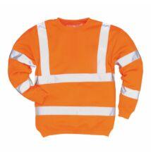 B303 Jól láthatósági pulóver, narancs