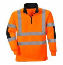 B308 Jól láthatósági Rugby pulóver, narancs