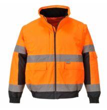 C468 Hi-Vis 2 az 1-ben kabát, narancs