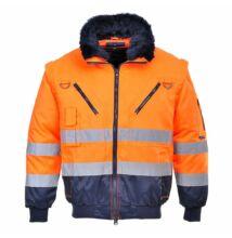 PJ50 Jólláthatósági Pilóta Dzseki, narancs/sötétkék