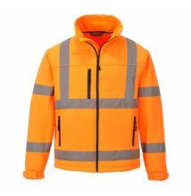 S424 Jól láthatósági Softshell dzseki (3L), narancs