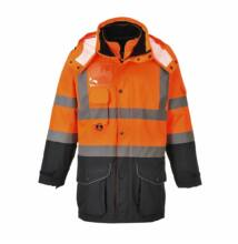 S426 Jól láthatósági 7 az 1-ben kabát, narancs/sötétkék