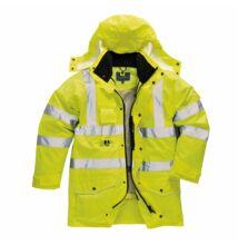 S427 Jól láthatósági 7 az 1-ben kabát, sárga