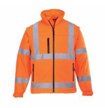 S428 Jól láthatósági Softshell dzseki, narancs