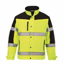 S429 Kéttónusú Softshell kabát, sárga