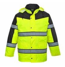 S462 Classic kéttónusú kabát, sárga