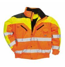S464 Jól láthatósági bomber dzseki, narancs/sárga