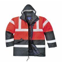 S466 Kontraszt Traffic kabát, piros/sötétkék