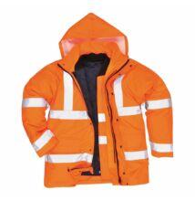 S468 Jól láthatósági 4 az 1-ben kabát, narancs