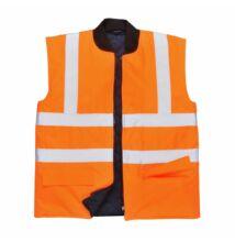 S469 Jól láthatósági kifordítható mellény, narancs