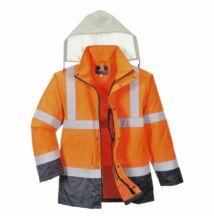 S471 Jól láthatósági 4 az 1-ben kabát, narancs/sötétkék