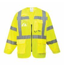 S475 Jól láthatósági vezetői dzseki, sárga