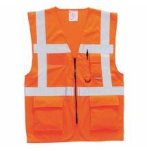 S476 Jól láthatósági vezetői mellény, narancs