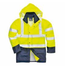 S496 Sealtex kéttónusú dzseki, sárga/sötétkék
