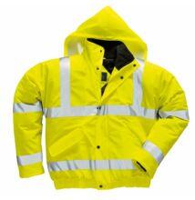 S498 Jól láthatósági lélegző dzseki, sárga