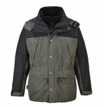 S532 Orkney 3 az 1-ben lélegző kabát, szürke/fekete