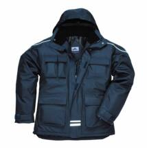 S563 Ripstop sokzsebes kabát, sötétkék