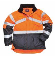 S760 Jól láthatósági lélegző dzseki, narancs/sötétkék