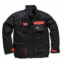 TX10 Texo kétszínű kabát, fekete/piros