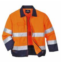 TX70 Madrid Hi-Vis kabát, narancs/sötétkék