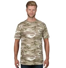 AN939 ADULT MIDWEIGHT CAMOUFLAGE TEE, Camouflage Green