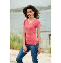 CC3199 LADIES' V-NECK TEE, Black