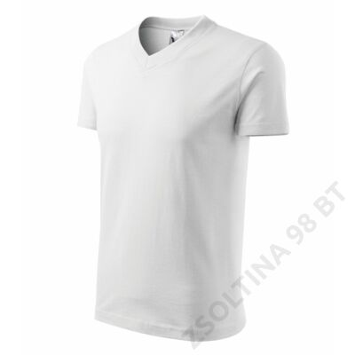 V-neck ADLER pólók unisex, fehér
