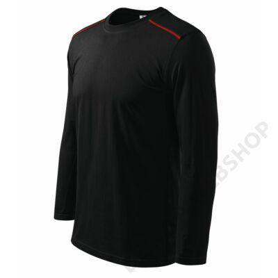 Long Sleeve ADLER pólók unisex, fekete