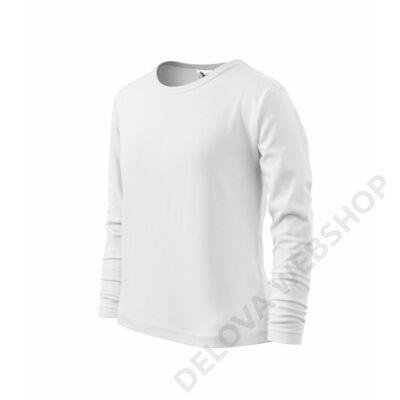 Long Sleeve ADLER pólók gyerek, fehér