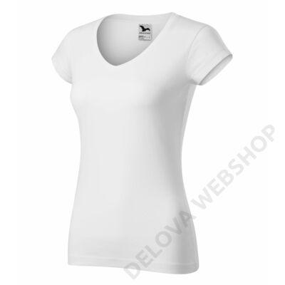 Fit V-neck Pólók női, fehér