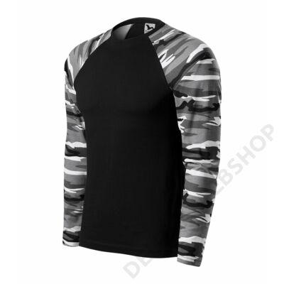 Camouflage LS Pólók unisex, terepszín szürke
