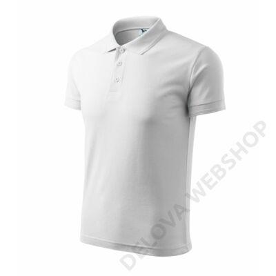 Pique Polo ADLER galléros póló férfi, fehér