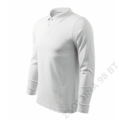 Single J. LS ADLER galléros póló férfi, fehér
